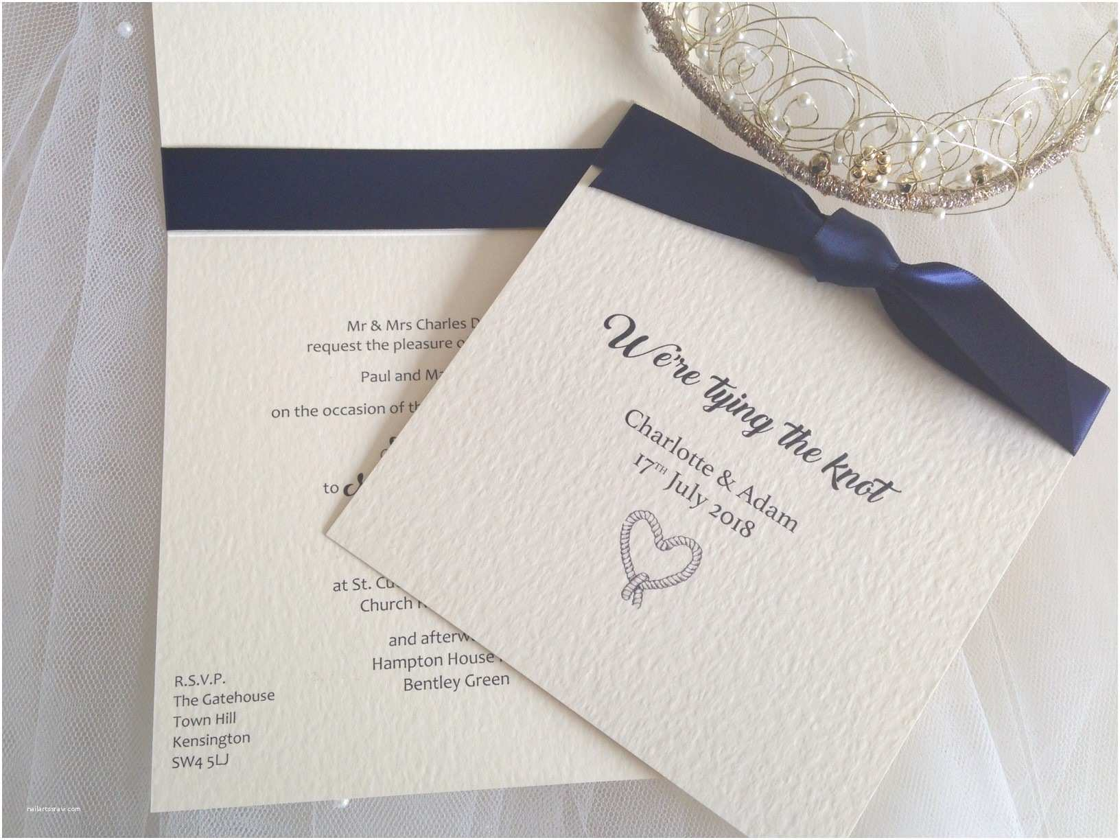 Tying the Knot Wedding Invitations Tying the Knot Wedding Invitations