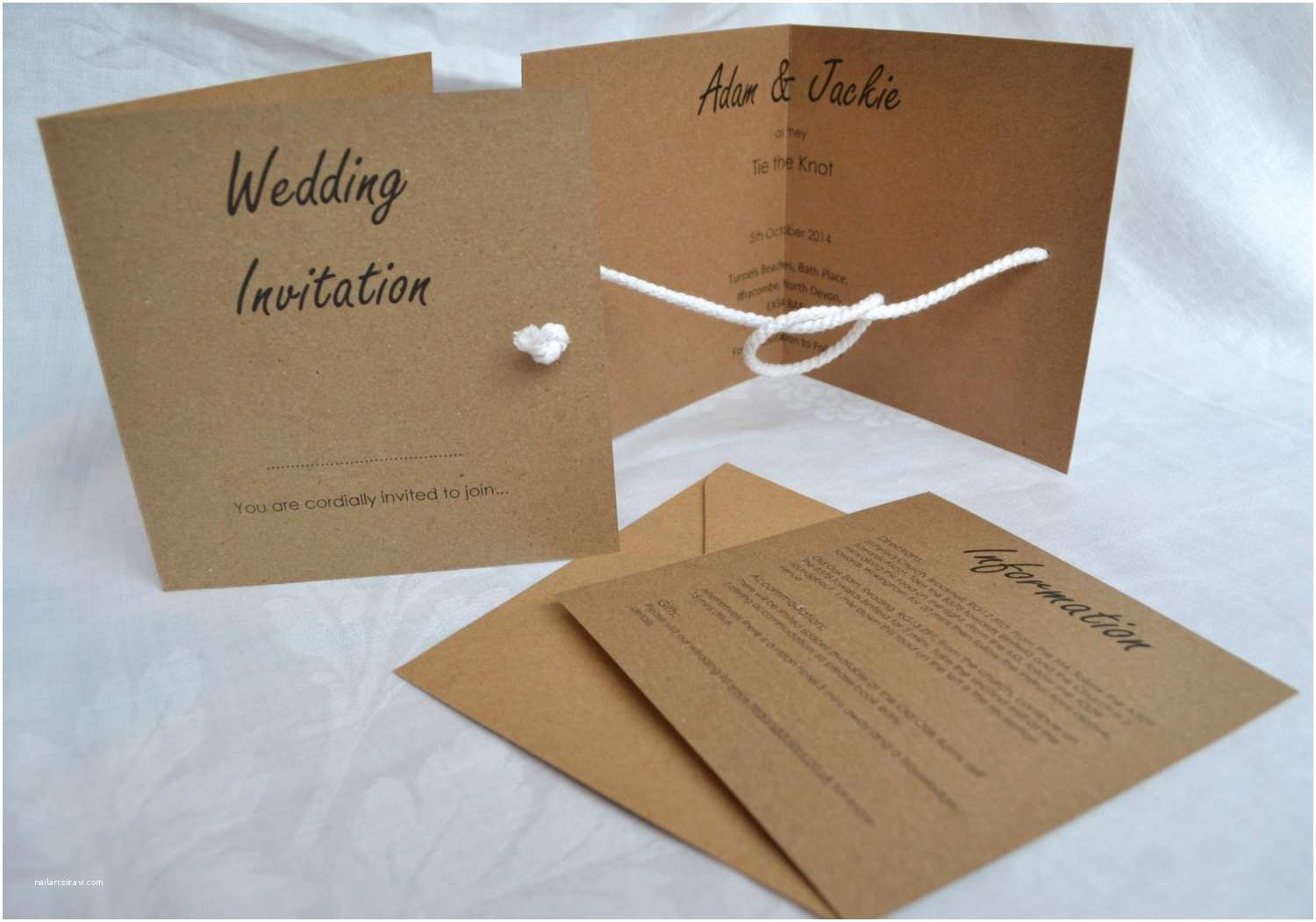 Tying the Knot Wedding Invitations Wedding Invitation Wording Wedding Invitation Templates