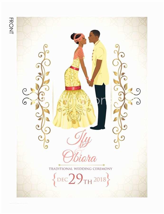 Typical Wedding Invitation Nigerian Traditional Wedding Invitation Card Igbo