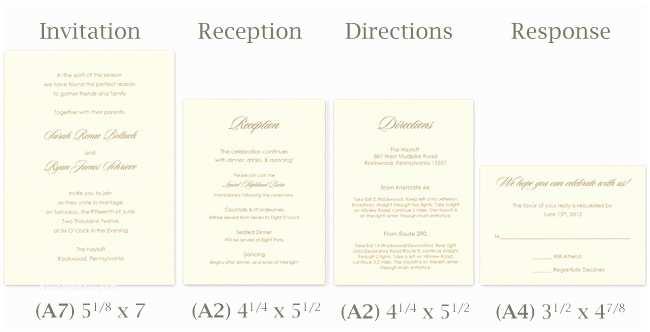 Typical Wedding Invitation Size Standard Invitation Size Template