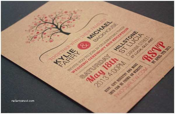 Typography Wedding Invitations A Showcase Of Creative Wedding Invitations