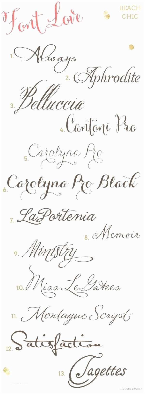 Typography Wedding Invitations Beach Wedding Invitation Fonts
