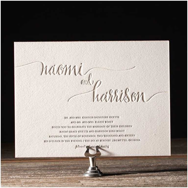 graphic typography wedding invitations