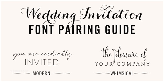 Typography Wedding Invitations Wedding Invitation Font Pairing Guide