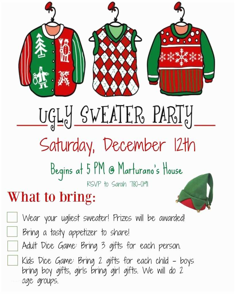 Ugly Christmas Sweater Party Invitations How to Host An Ugly Christmas Sweater Party Must Have Mom