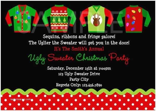 Ugly Sweater Christmas Party Invitations Ugly Christmas Sweater Party Ideas Christmas
