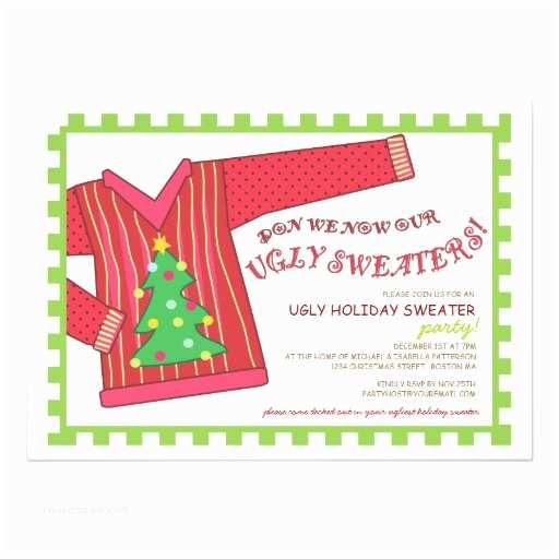 Ugly Sweater Christmas Party Invitations Ugly Christmas Sweater Party Invitation