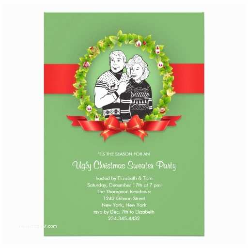 """Ugly Sweater Christmas Party Invitations Ugly Christmas Sweater Party Invitations 5"""" X"""