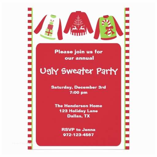 Ugly Sweater Christmas Party Invitations Ugly Christmas Sweater Party Invitations