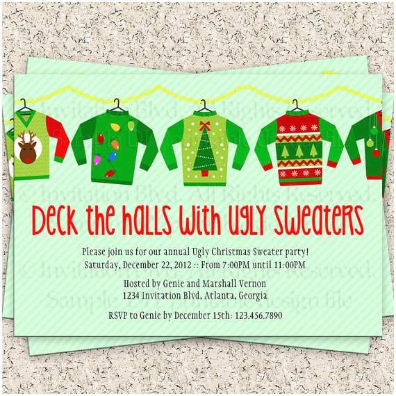 Ugly Sweater Christmas Party  Ugly Christmas Sweater Party