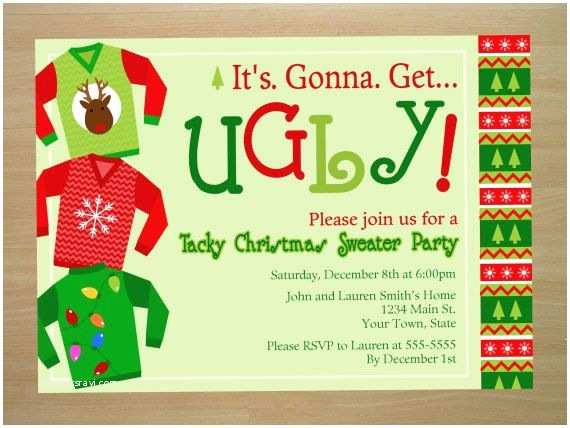 Ugly Sweater Party Invitations Ugly Christmas Sweater Party Invitation Digital File