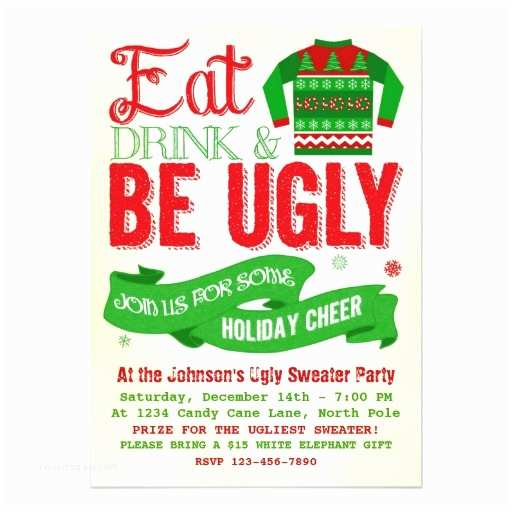Ugly Sweater Party Invitations Ugly Sweater Invite Long Sweater Jacket