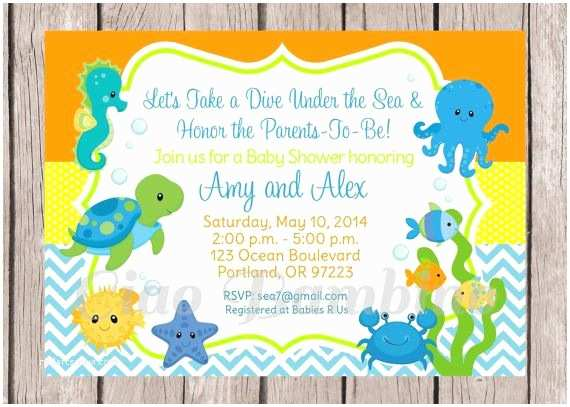 Under the Sea Baby Shower Invitations 25 Best Ideas About Invitations for Baby Shower On