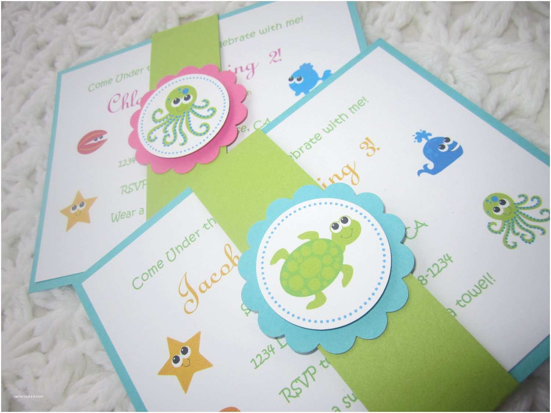 Under the Sea Baby Shower Invitations Custom Listing for Krichael Under the Sea Handmade Invitation