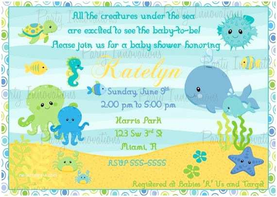 Under the Sea Baby Shower Invitations Printable Under the Sea Baby Shower Invitation Plus Free