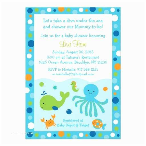 Under the Sea Baby Shower Invitations Under the Sea Baby Shower Invitations