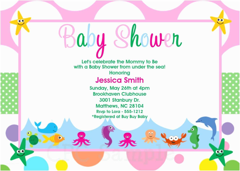 Under the Sea Baby Shower Invitations Under the Sea Baby Shower Invitations Printable or Printed