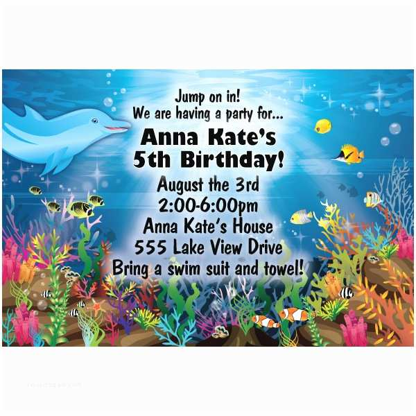 Under the Sea Birthday Invitations Free Printable Under the Sea Birthday Party Invitations