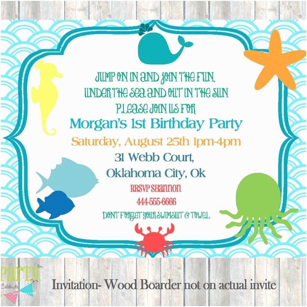Under the Sea Party Invitations Design Under the Sea Baby Shower Invitations