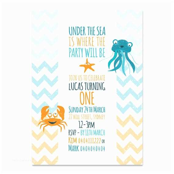 Under the Sea Party Invitations Unavailable Listing On Etsy
