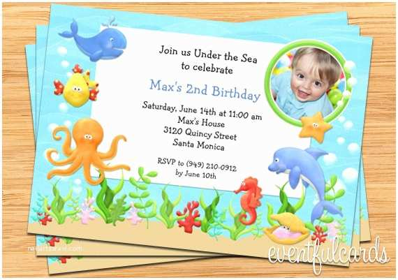 Under the Sea Party Invitations Under the Sea Birthday Party Invitation Printable by