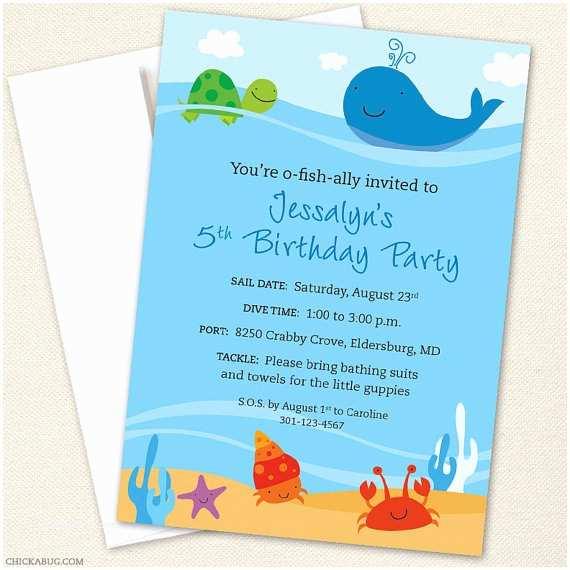 under the sea party invitations