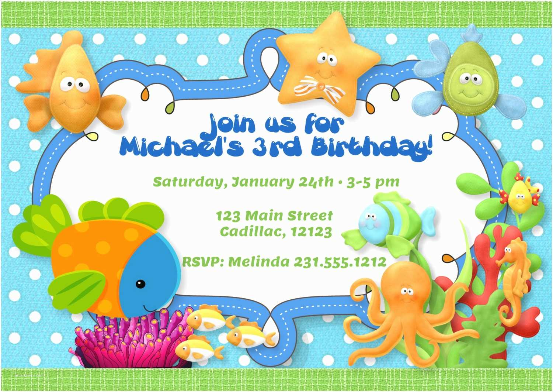 Under the Sea Party Invitations Under the Sea theme Birthday Party Invitation Boys Under the
