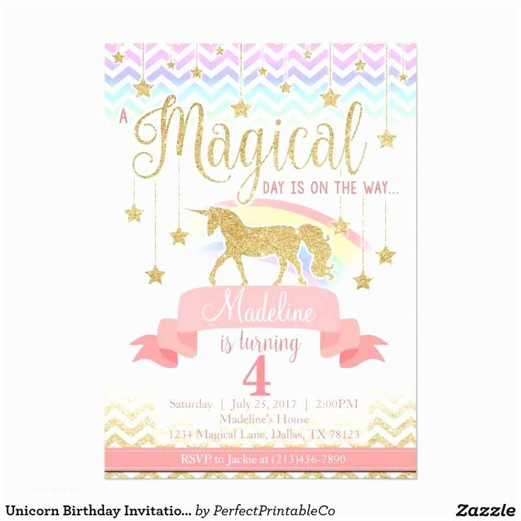 Unicorn Birthday Invitations Best 25 Unicorn Birthday Invitations Ideas On Pinterest