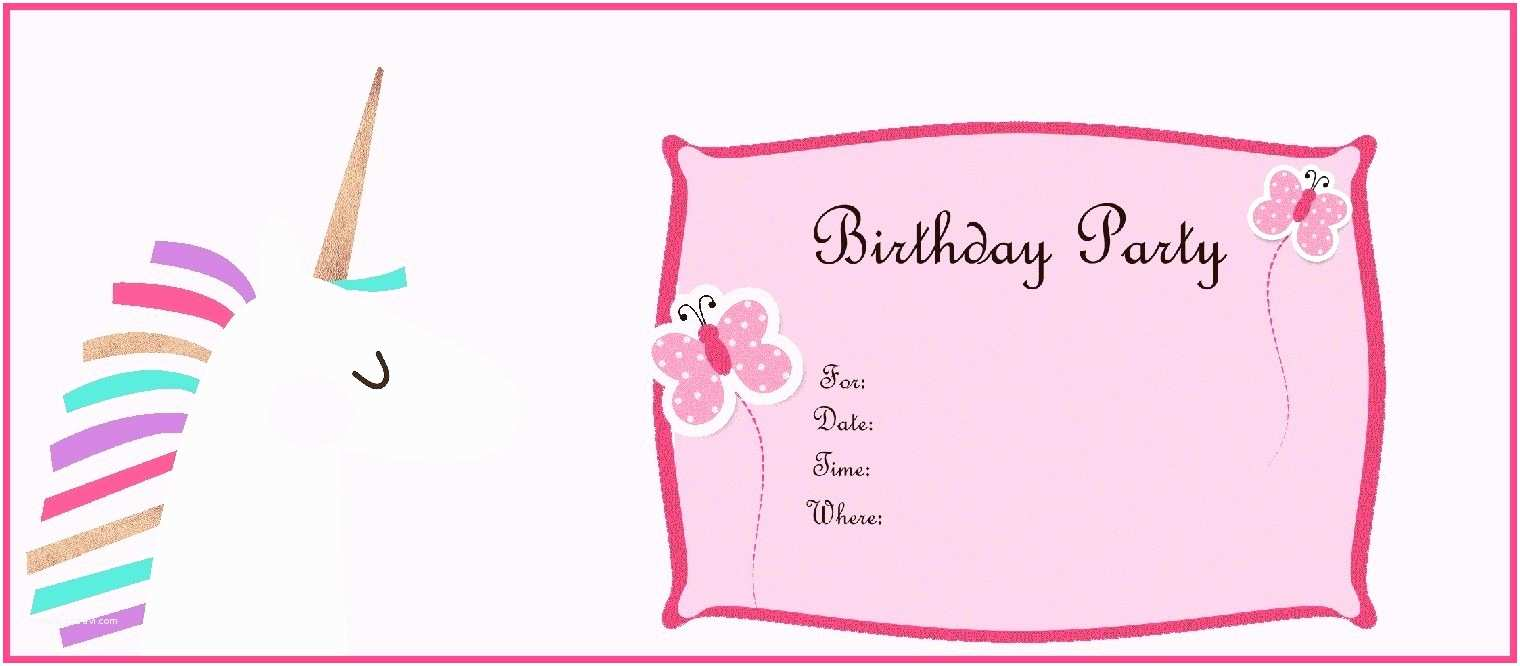 Unicorn Birthday Invitations Contemporary Unicorn Birthday Party Invitations Image