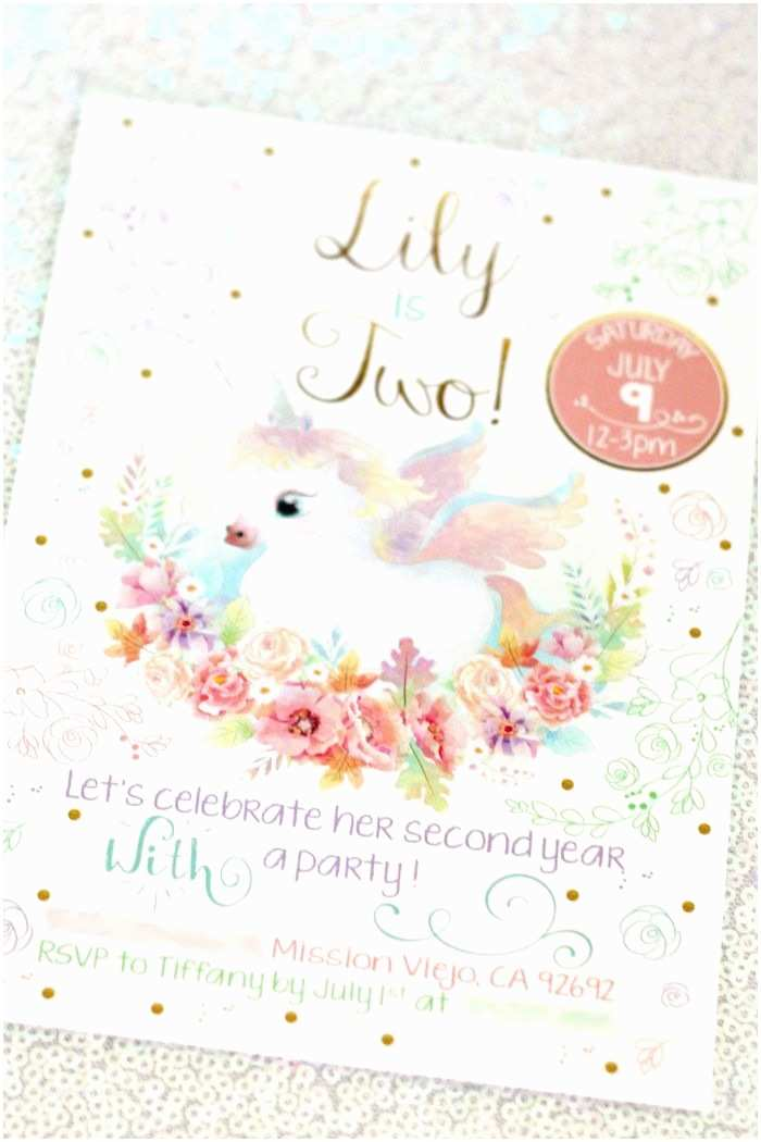 Unicorn Birthday Invitations This Iridescent Unicorn Birthday Party is Basically Made