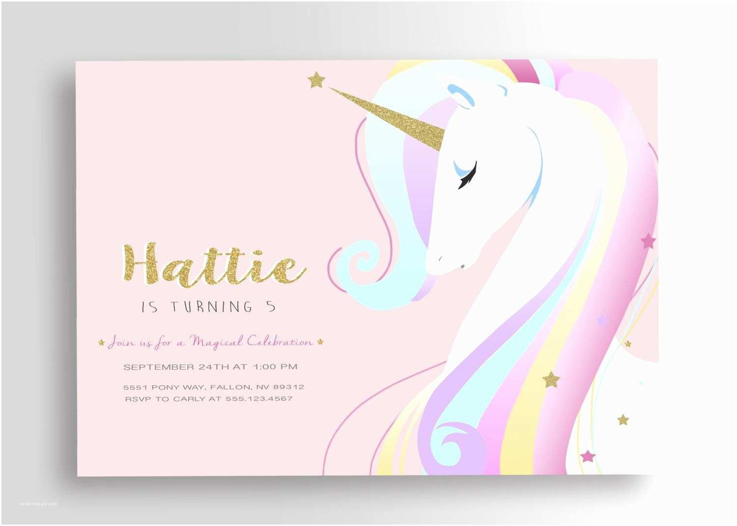 Unicorn Birthday Invitations Unicorn Birthday Invitation Unicorn Invitation Unicorn