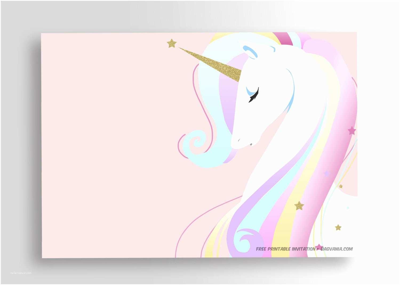 Unicorn Birthday Party Invitations Free Printable Golden Unicorn Birthday Invitation Template