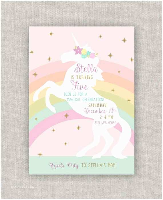 Unicorn Party Invitations 1000 Ideas About Unicorn Birthday Parties On Pinterest