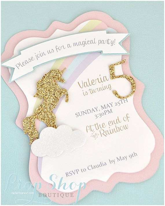 Unicorn Party Invitations 20 Amazing Unicorn Birthday Party Ideas for Kids