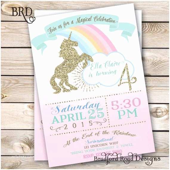 Unicorn Party Invitations 25 Best Ideas About Rainbow Unicorn Party On Pinterest