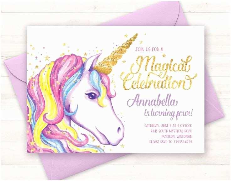 Unicorn Party Invitations Best 25 Unicorn Invitations Ideas On Pinterest