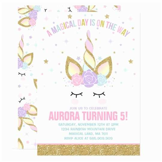Unicorn Party Invitations Magical Unicorn Birthday Invitation Unicorn Party