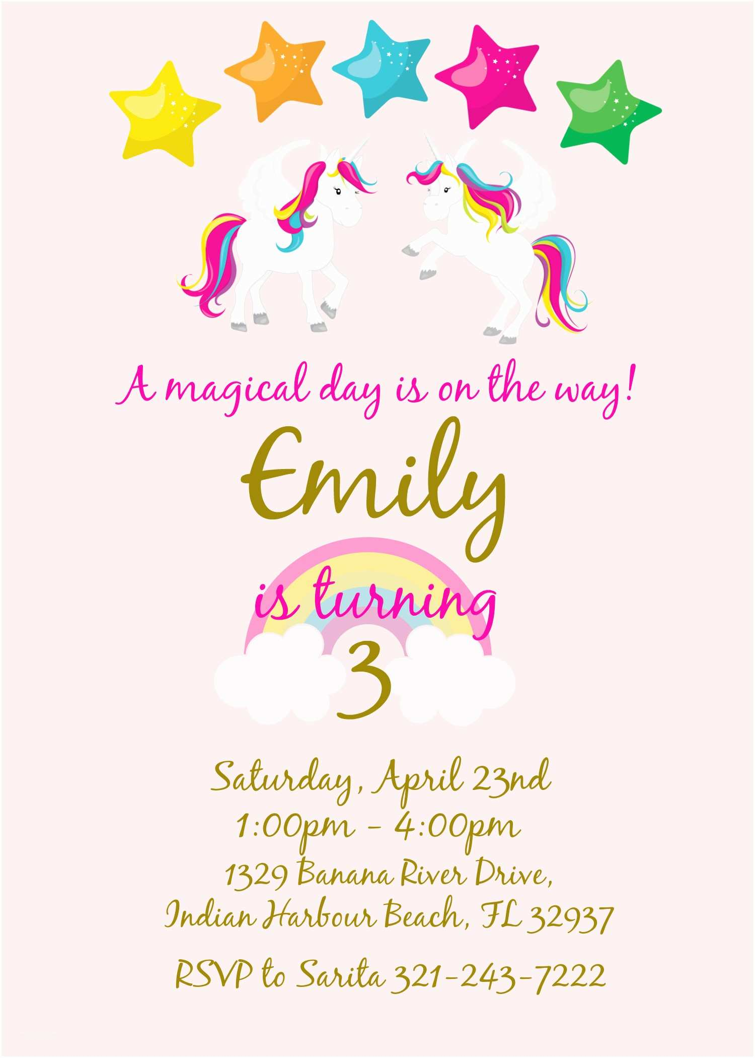 Unicorn Party Invitations Magical Unicorn Birthday Party My Practical Birthday Guide