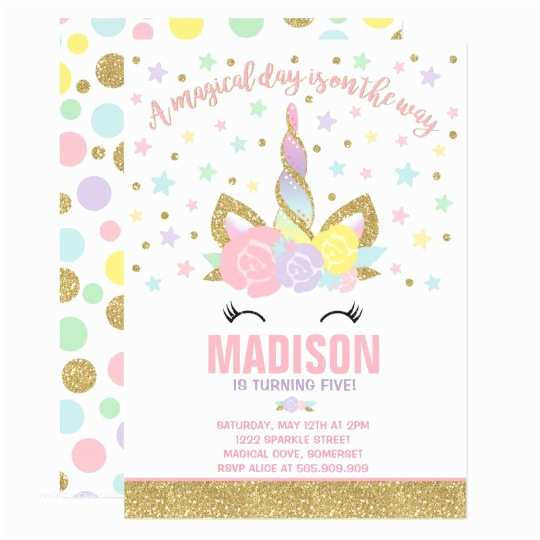 Our Best Gallery Of 36 Unicorn Party Invitations