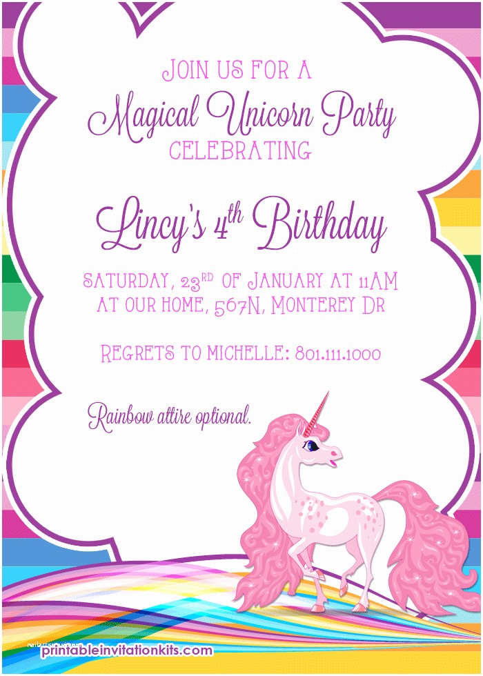 Unicorn Party Invitations Rainbows and Unicorn Birthday Printables ← Wedding