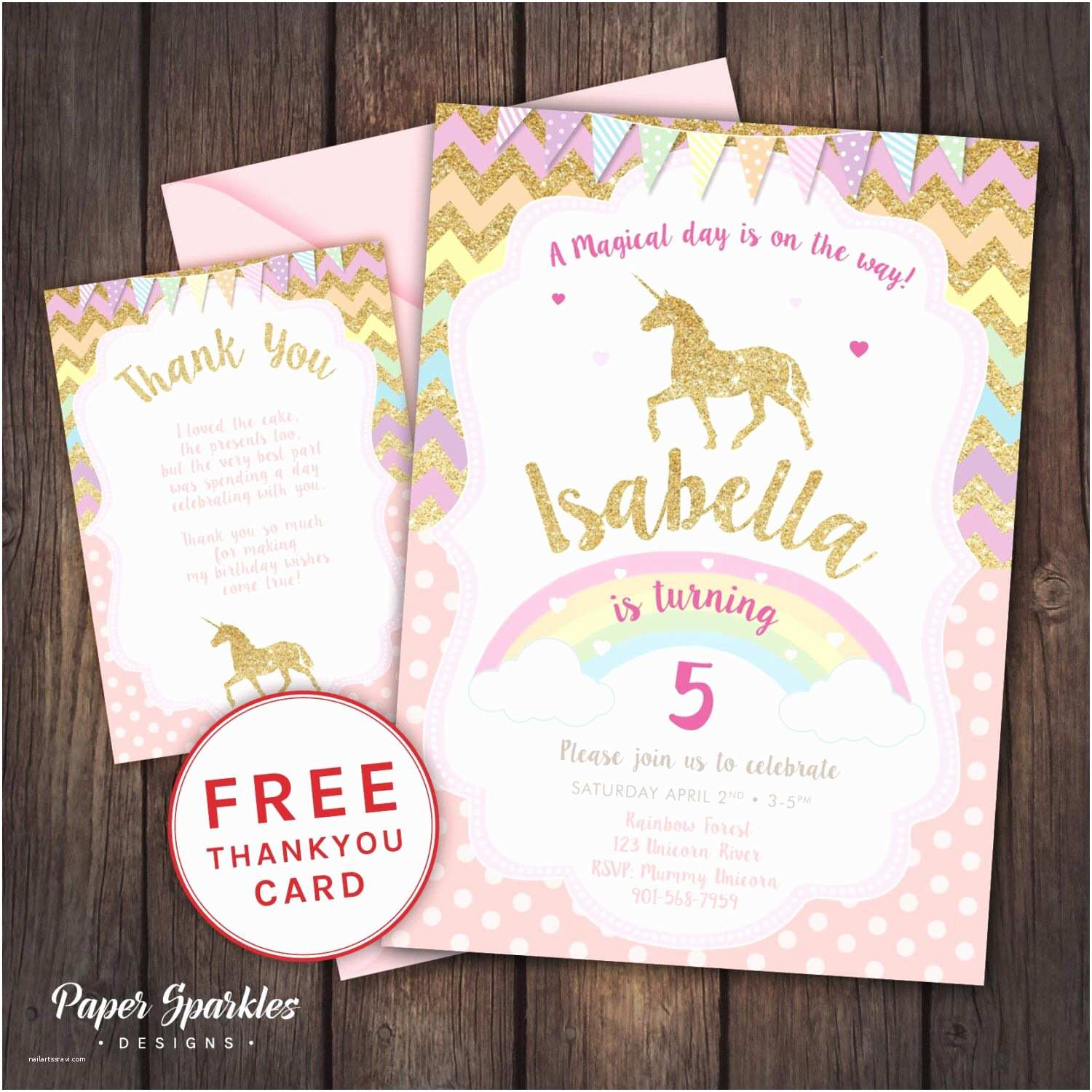 Unicorn Party Invitations Unicorn Invitation Unicorn Party First Birthday