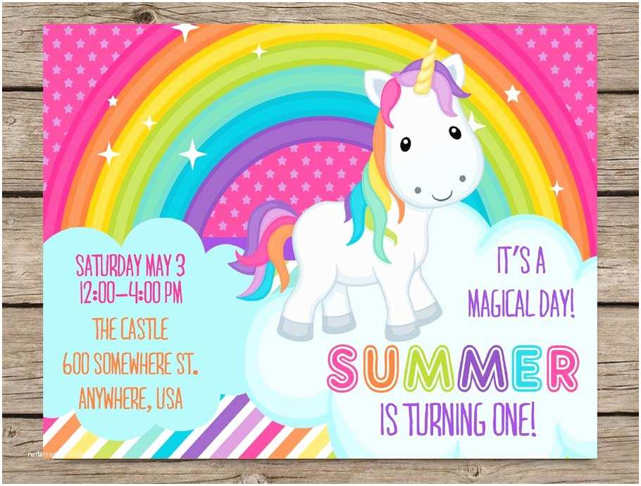 Unicorn Party Invitations Unicorn Party Invitations