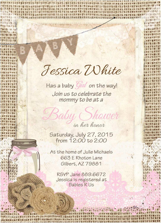 Unique Baby Shower Invitations Rustic Baby Shower Invitations