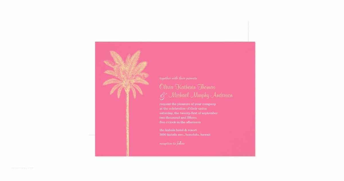 Unique Beach Wedding Invitations Unique Pink Beach Wedding Invitations
