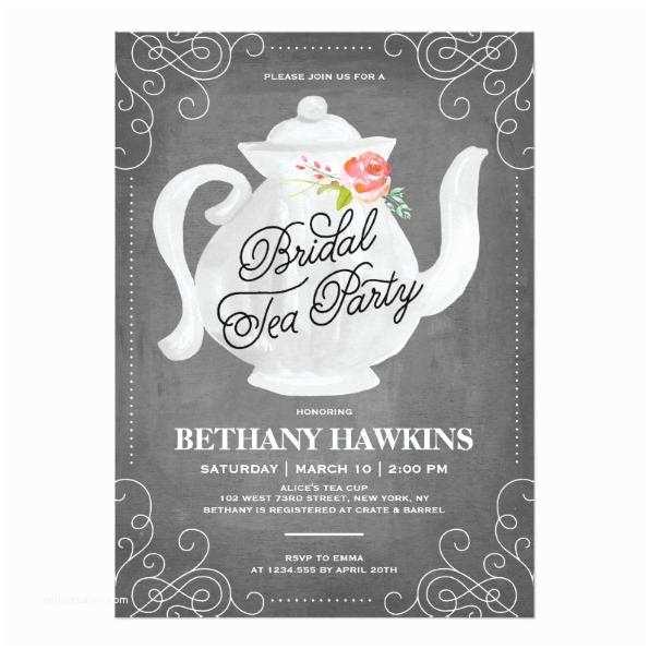 Unique Bridal Shower Invitations Bridal Tea Party