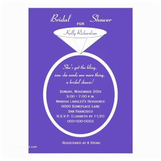Unique Bridal Shower Invitations Unique Ring Bridal Shower Invitation On Purple