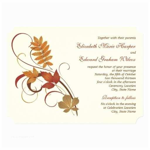 Unique Fall Wedding Invitations Autumn Wedding Invitations Unique Autumn Wedding