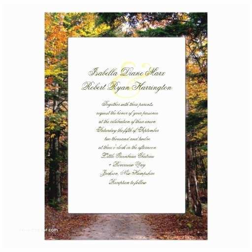 Unique Fall Wedding Invitations Back Road Custom Fall Wedding Invitations