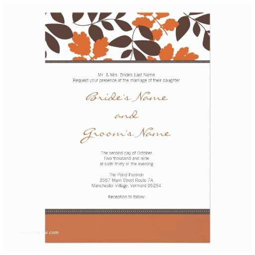 Unique Fall Wedding Invitations Custom Fall Wedding Invitation