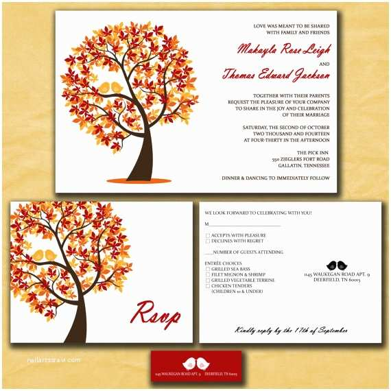 fall wedding invitations autumn wedding